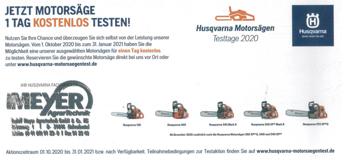 Husqvarna Motorsaegen Test